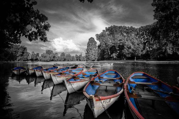 Barques sur le lac de Vincenne