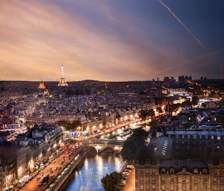 Toits de Paris de nuit