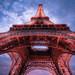 Contre plongée de la Tour Eiffel