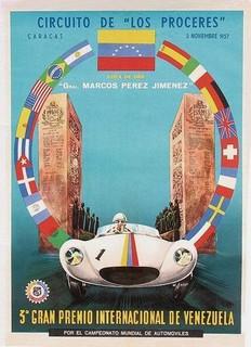 1957 GP Venezuela Poster
