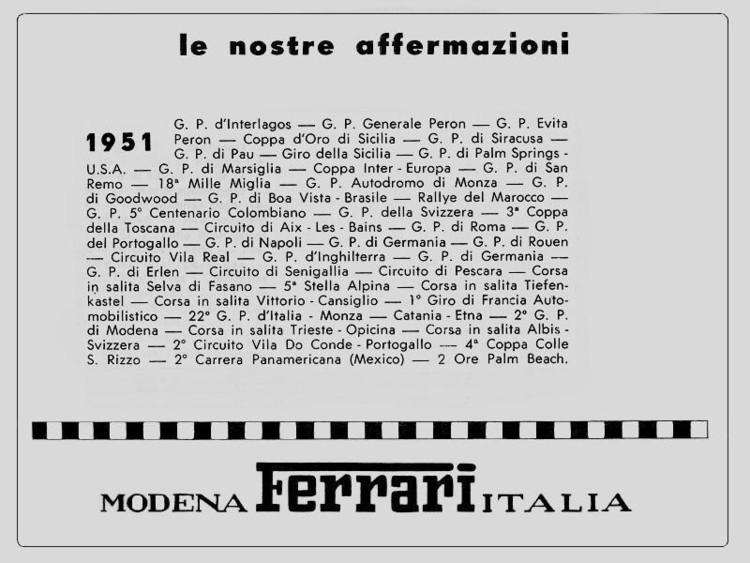Victoires Ferrari 1951