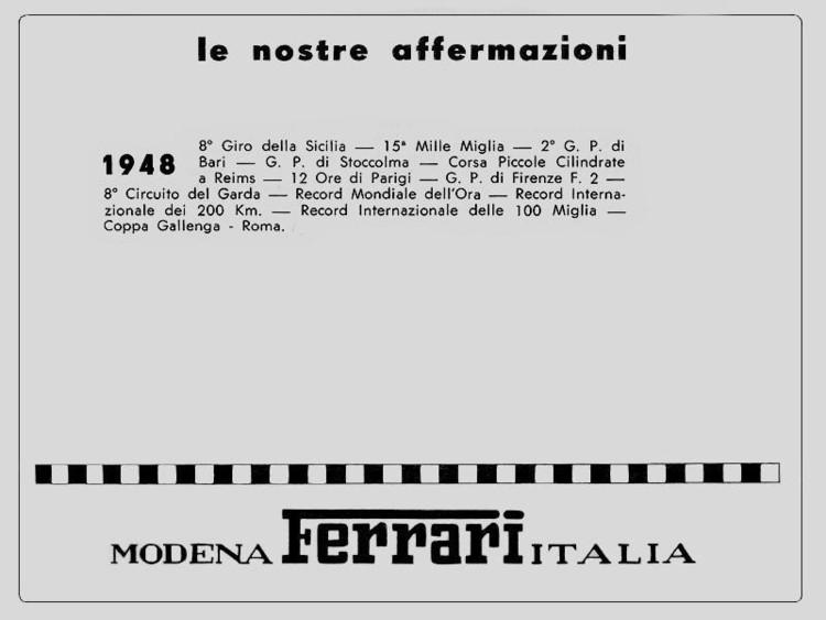le nostre affermazioni 1948