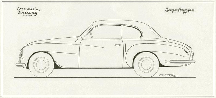 Ferrari 166 Sport Touring Coupé 2+2 sketch