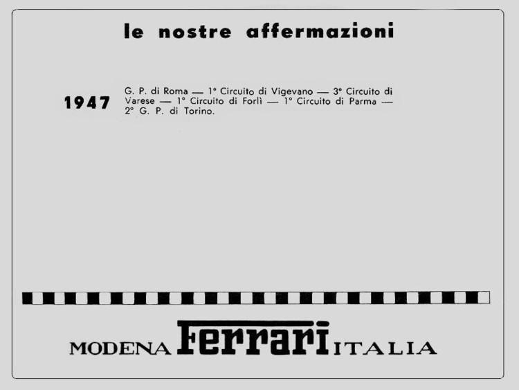 Victoires Ferrari 1947
