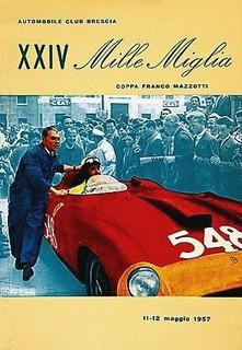 1957 Mille Miglia Poster