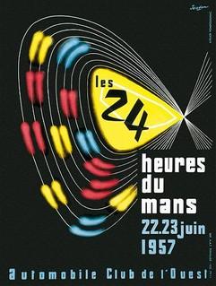 1957 24 Heures du Mans Poster