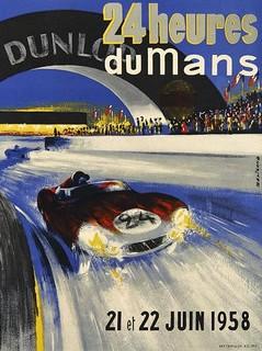1958 24 Heures du Mans Poster