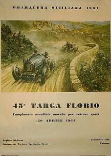 1961 Targa Florio Poster