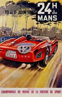 1961 24 Heures du Mans Poster