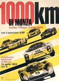 1000 km de Monza 1969 Poster