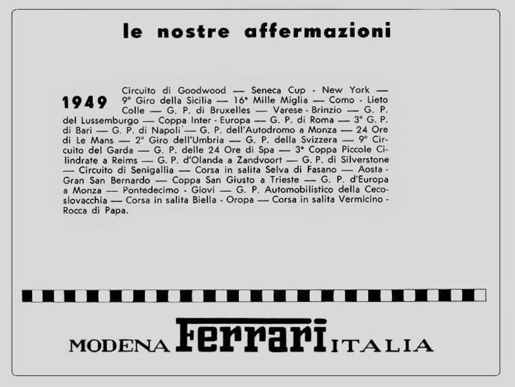 le nostre affermazioni 1949