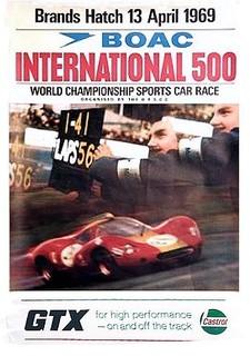 BOAC International 500 1969 Poster