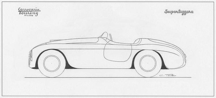 Ferrari 166 MM Barchetta Touring Lusso sketch