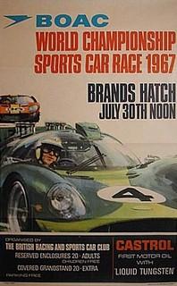 Brands Hatch 1967 Poster