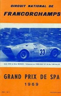 1000 km de Spa-Francorchamps 1969 Poster