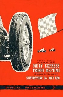 1958 Daily Express Silverstone Poster