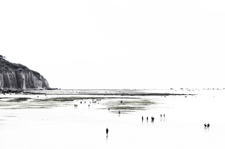 La promenade à marée basse